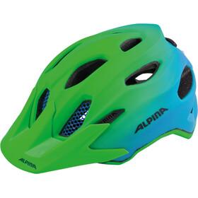 Alpina Carapax Flash Helmet Jugend green-blue